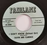 "45Re ✦CALVIN AND CLARENCE✦ ""I Don't Know / I Wanna Dance"" Fantastic Duet Stroll♫"
